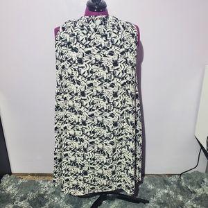 Ellos graphic sleeveless zipper dress